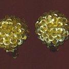 SPARKLING VTG. GOLD  SEQUINED EARRINGS