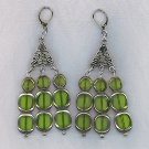 GORGEOUS GLASS BEAD CHANDELIER EARRINGS, PIERCED