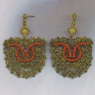 UNIQUE & BEAUTIFUL FILIGREE & BEADS EARRINGS