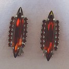 STUNNING RUBY R.S. VTG. EARRINGS