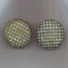 SPARKLING VTG. PAVE' RHINESTONE EARRINGS