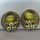 ART GLASS VTG. W. GERMANY EARRINGS