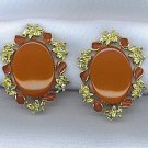 VINTAGE THERMOSET EARRINGS IN RUSTY COLOR
