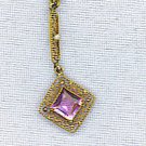 ANTIQUE LAVALIERE PENDANT NECKLACE