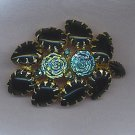 SALE!! BEAUTIFUL VTG. BROOCH IN DEEP GREEN