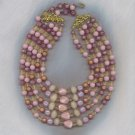 5 STRAND VTG. BEAD NECKLACE