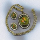 W. GERMANY EXTRAORDINARY VGT. PENDANT NECKLACE & EARRINGS