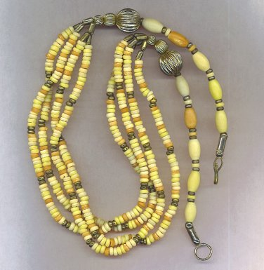 Classy Shell & Bead Multi Strand Necklace