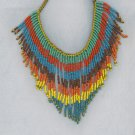Spectacular Colorful Seed Bead Necklace