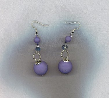 Artisan Crafted Periwinkle Blue Dangly Earrings