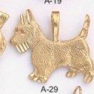 One Dozen Dog Pendants Poodle Scottie Pug