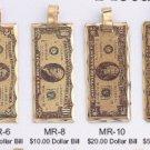 One Dozen Money Lasar Pendants
