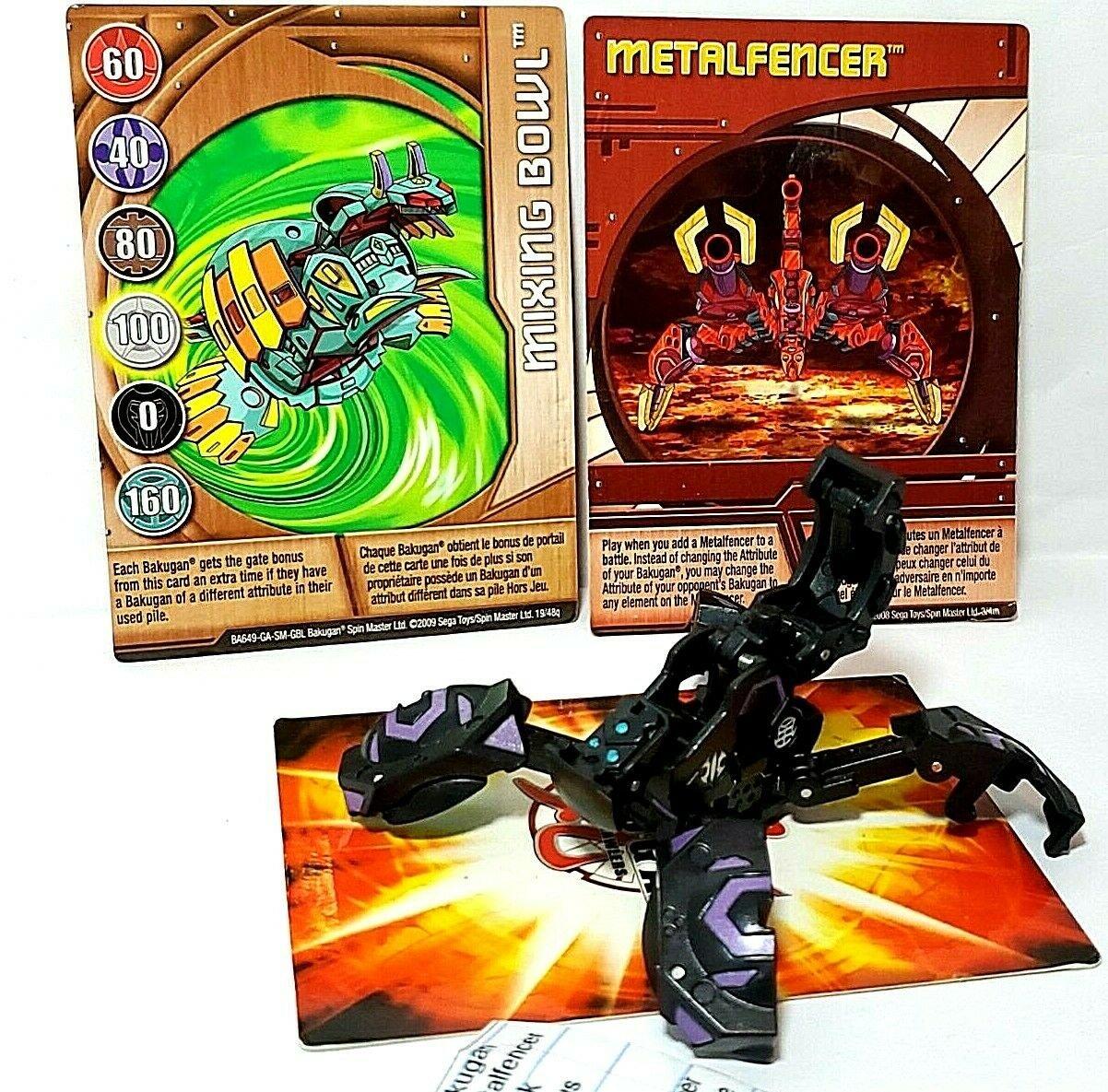 Bakugan Metalfencer Black Darkus Aquos Ventus, metalfencer card 3 piece lot
