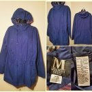 Mulberry Street Mens hooded jacket Blue Sz M/M