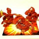 Bakugan Red Pyrus B2 Dragonoid bundle lot of 3 Naga 440g, neo 550g, hyper 500g
