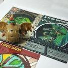 bakugan nemus green ventus reverse attribute 600g & cards very rare!