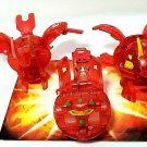 bakugan red pyrus translucent neo dragonoid 630g, fox bat 530g, duel elfin 540g