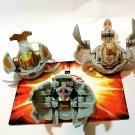 Bakugan gray haos B2 lot of 3 sirenoid 490g, strikeflier 770g, laserman 460g