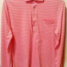 Polo Ralph Lauren Men Pink White Stripe Long sleeve Shirt