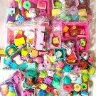 Shopkins Huge mix Lot moose Fruit Smoothie Shoppies Carts Baskets Bags
