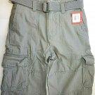 Mossimo Gray Cargo Men Shorts W/ Belt. size 31 Inseam 11.5 NWT