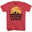 Lion King Hakuna Matata Disney Adult Mens Tee Graphic T-shirt sz L