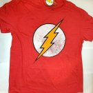 DC Comics The Flash T Shirt Distressed Logo Red sz. L Big Bang Theory Official