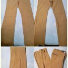 Guess Jeans Authentic Stretch Tan / Beige Zipped Ankle Stretch Pants SZ 30