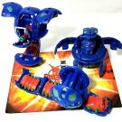 Bakugan Blue Aquos B2 lot of 3 blade tigerra 560g, leeform 500g, wormquake 4100g