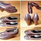 Sesto Meucci Pumps Brown Leather Heels Elastic Slip On Shoes Womens Size 6.5 N