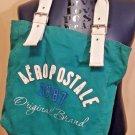 Aeropostale Cotton Canvas Tote Bag Handbag Beach Shop School Travel Blue