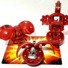 Bakugan Red Pyrus B2 lot of 3 ravenoid 550g, mega numas 520g, Farakspin 720g