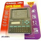 Casio Data Bank DC-2000-s 130 Tel & Fax Hand Held Digital Organizer vintage new