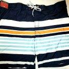 NEW Mens Merona Swim Trunks Shorts At Knee,Striped, Size 4XB