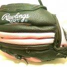 """Rawlings Baseball Glove Youth 9 1/2"""" GIRLS BLACK & PINK PL950BP BASKET WEB MITT"""