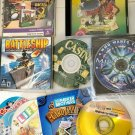 Games for PC lot of 9 CD-ROM, wheel of fortune, Monopoly, jeopardy, life, casino