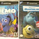 Monsters, Inc. Finding Nemo (Nintendo Gamecube) no manuals
