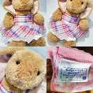 """Build A Bear Plush Stuffed Bunny Rabbit and outfit Cute Animal Tan Pink Toy 16"""""""