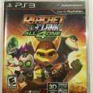 RATCHET & CLANK All 4 One Sony Playstation 3 PS3 Complete in Box with Manual