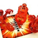 bakugan battle brawlers toys lot of 3 Pyrus