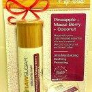 Raw Sugar Natural Lip Balm & Bonus Scrub Pineapple Maqui Berry + Coconut 2 packs