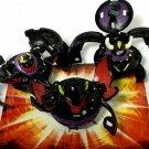 Bakugan Preyas Diablo 350G, Shadow Vulcan 570G, wilda 560G Black Darkus  & cards