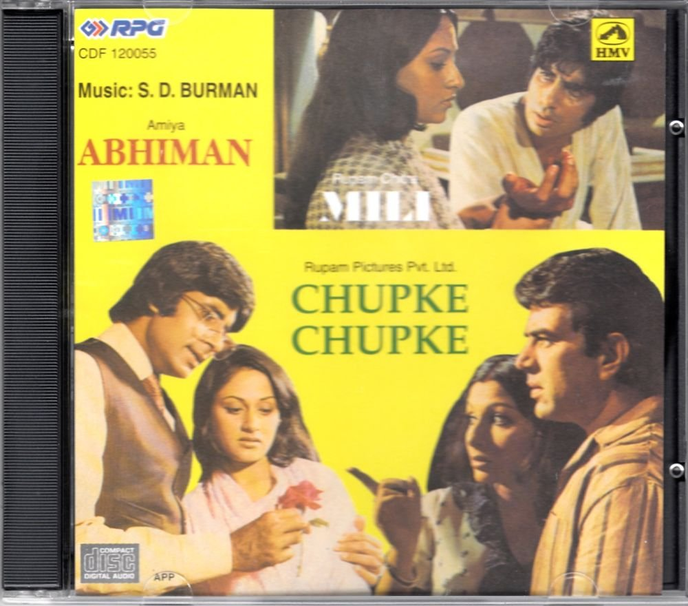 Abhimaan / Chupke Chupke / Mili (Music S.D. Burman) (Soundtrack) (Made in India)