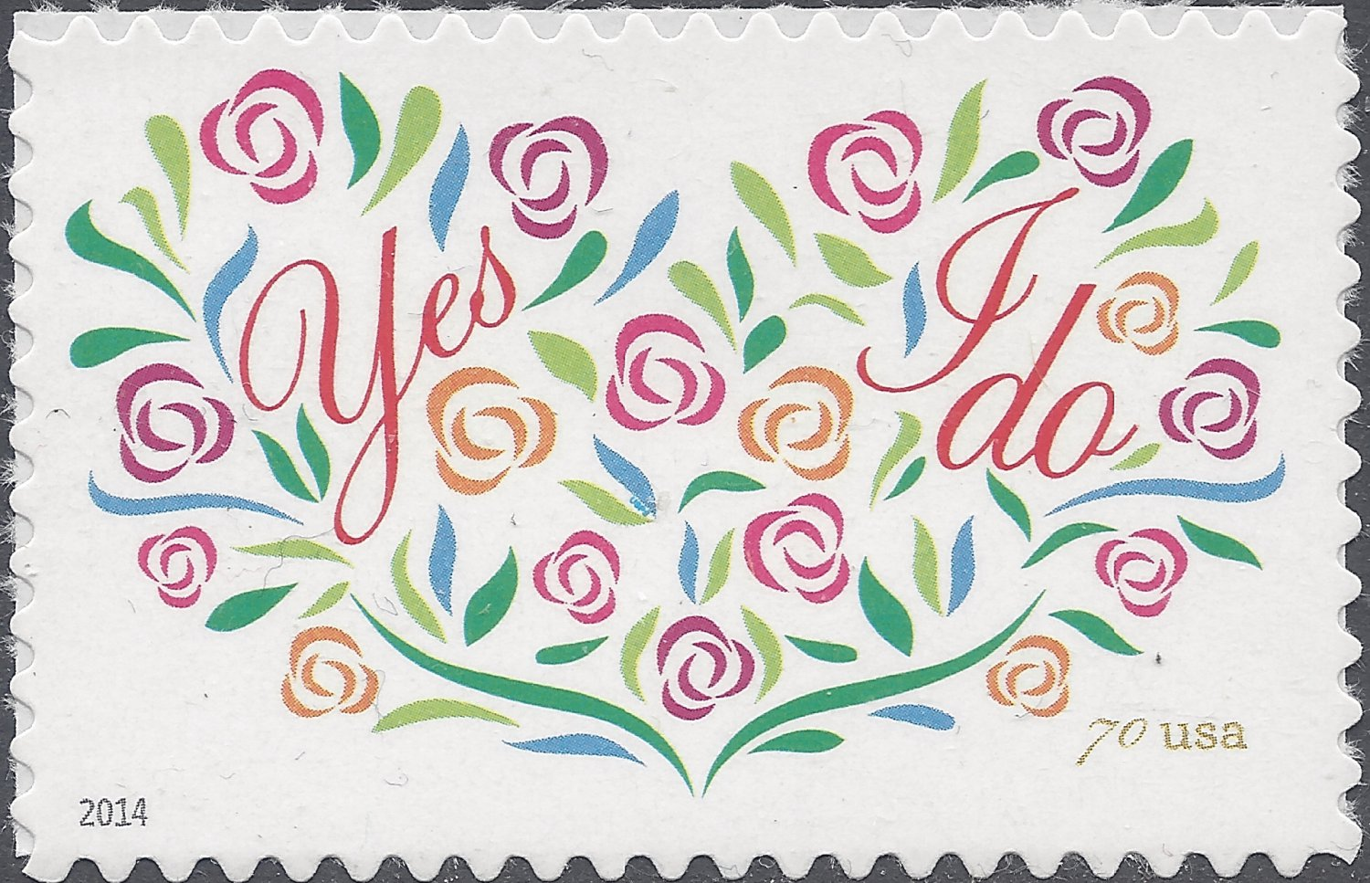#4881 70c Yes I Do (Wedding Series) 2oz Letter Rate Mint NH