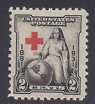 #702 2c 50th Anniv. American Red Cross 1931 Mint NH