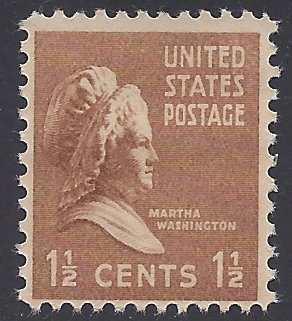 #805 1.5c Presidential Issue Martha Washington 1938 Mint NH