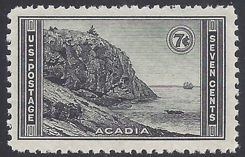 #746 7c National Parks Issue: Acadia Park 1934 Mint NH