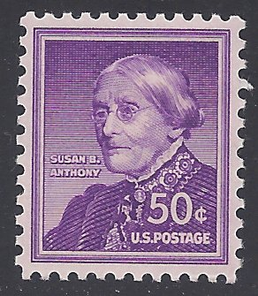 #1051a 50c Liberty Issue Susan B. Anthony 1955 Mint NH