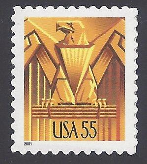 #3471 55c Art Deco Eagle USA 2001 Mint NH