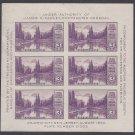 #750 3c Mt Rainier Souvenir Sheet of 6 1934 Mint NH